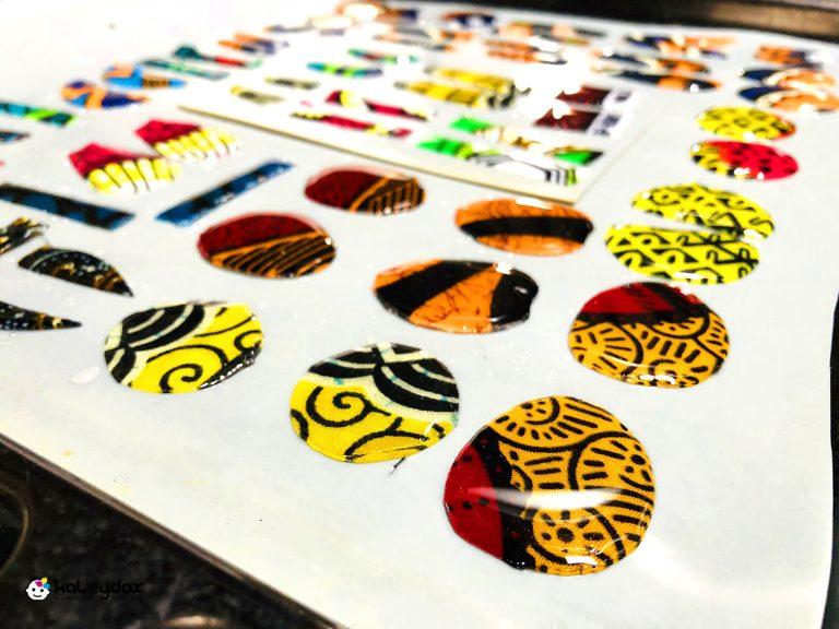 orecchini in african wax