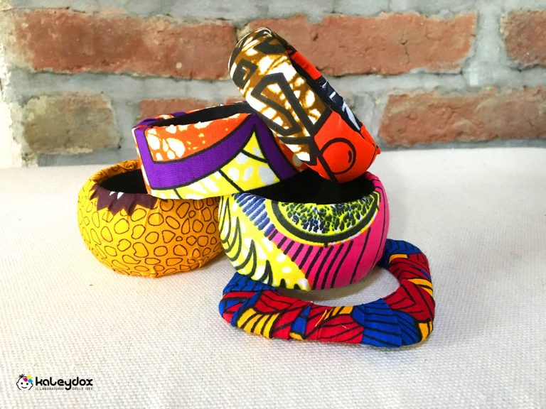 bracciali in legno e african wax