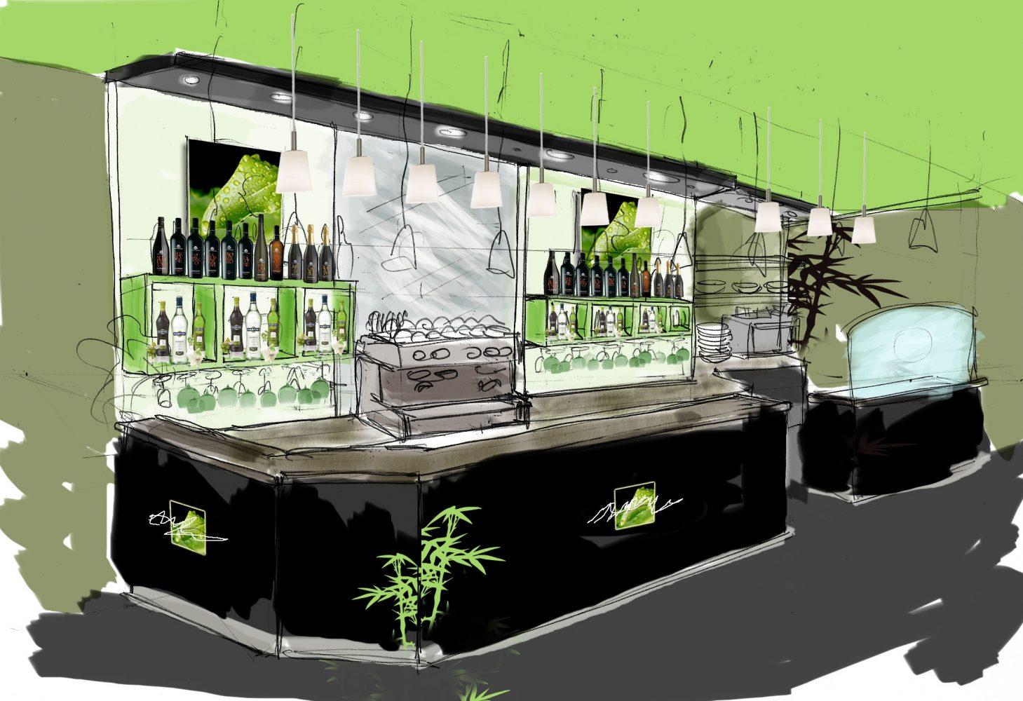 progetto restiling caffetteria