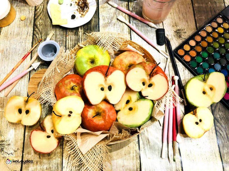 Sapone artistico che riproduce una mela
