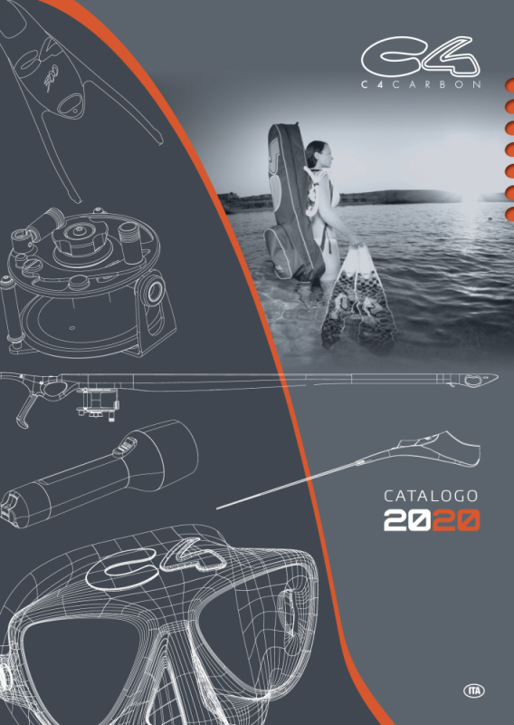 Copertina, impaginazione e illustrazioni catalogo per C4 Carbon - 2019